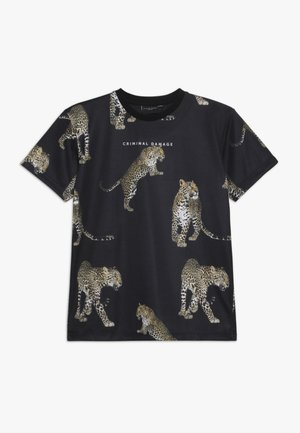 HUNTER TEE - T-shirt imprimé - black/multi