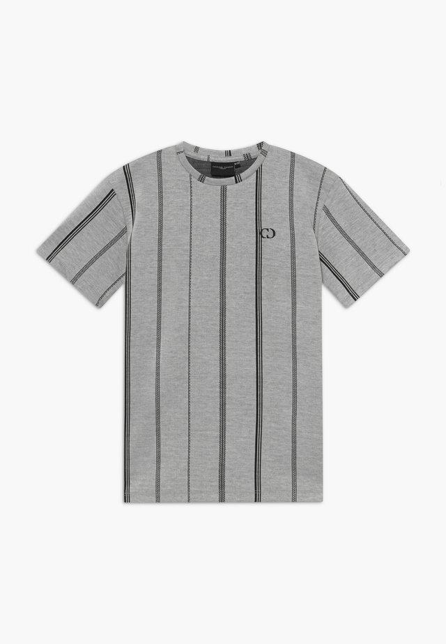 TEE - Triko spotiskem - grey/black