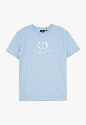 ORDINATE TEE - Triko spotiskem - blue/reflective white