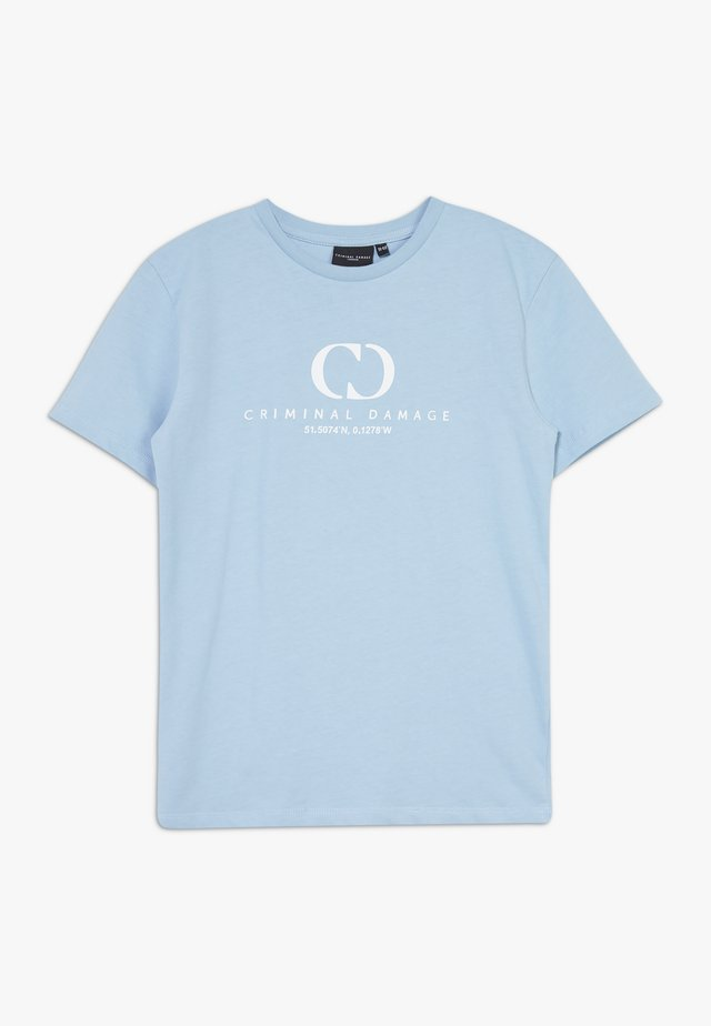 ORDINATE TEE - Camiseta estampada - blue/reflective white