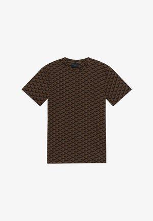 LOUVRE TEE - T-shirt imprimé - black/brown