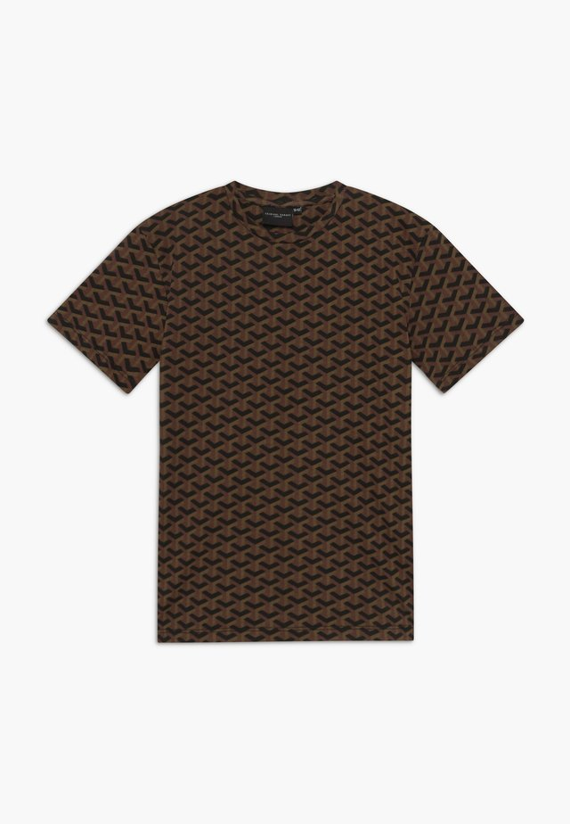 LOUVRE TEE - Print T-shirt - black/brown