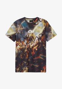 Criminal Damage - RENAISSANCE TEE - T-shirt imprimé - black/multi - 2
