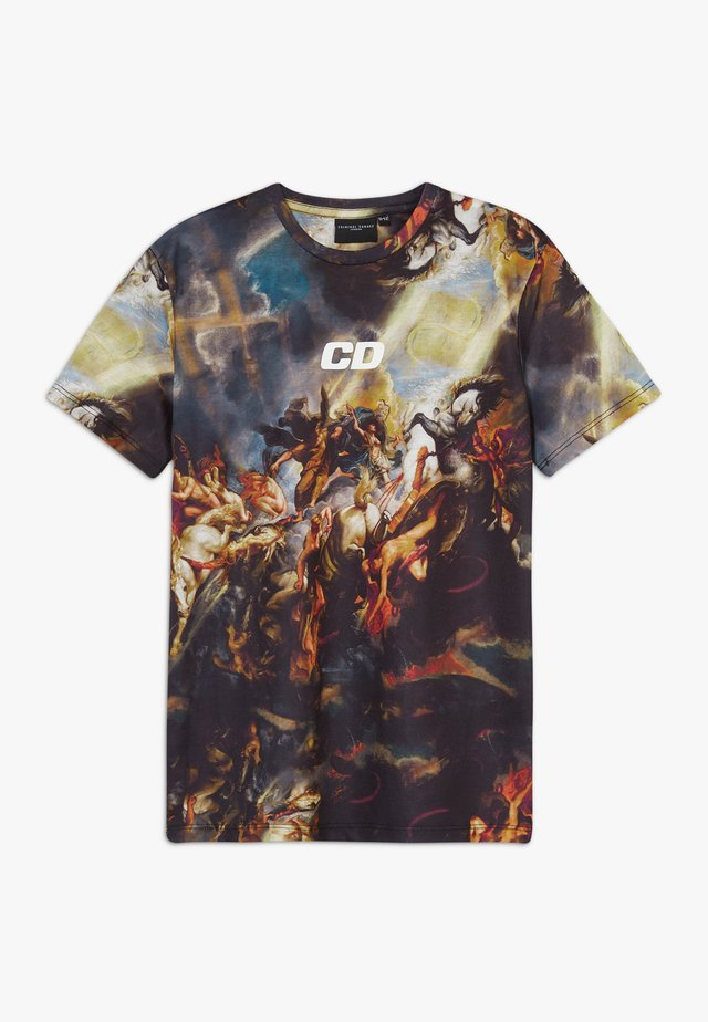 RENAISSANCE TEE - Camiseta estampada - black/multi