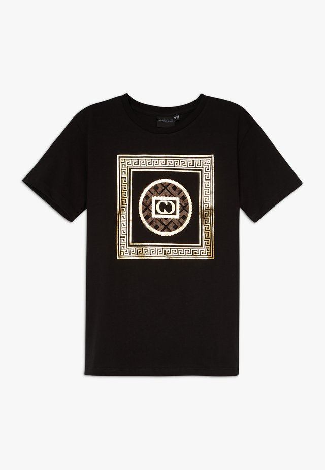 MILANO TEE - Print T-shirt - black/gold