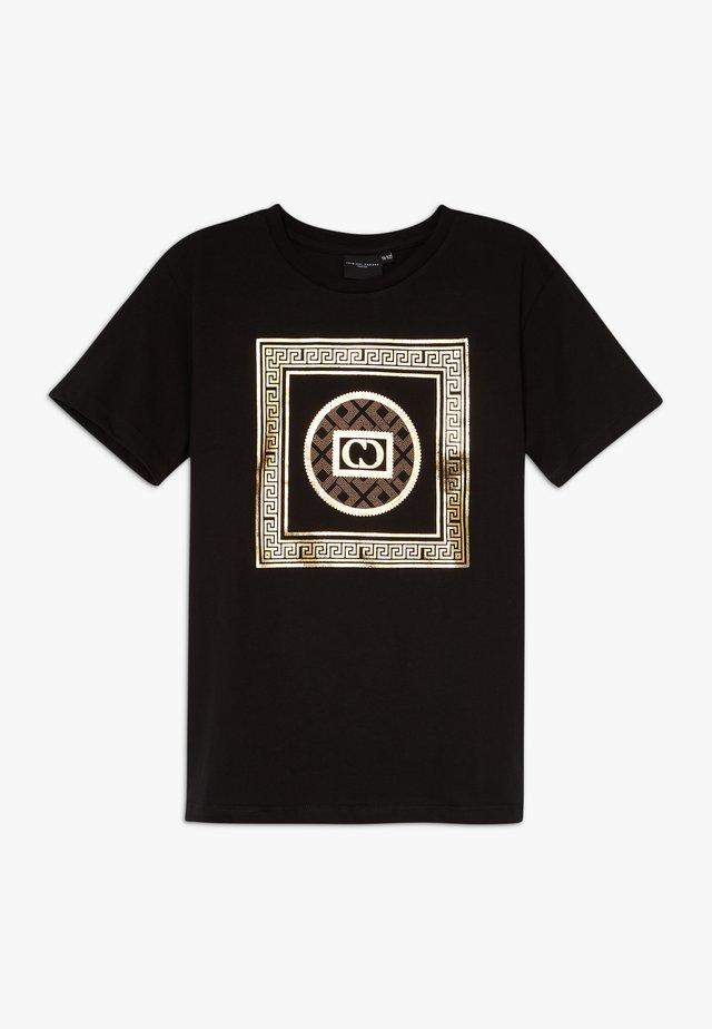MILANO TEE - T-shirt med print - black/gold