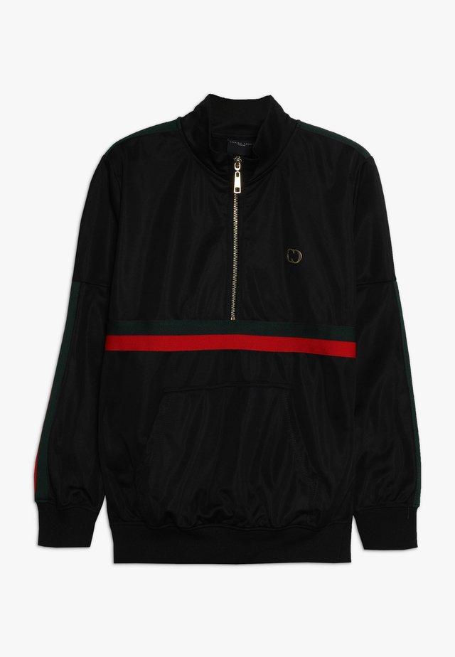 WISE CUCCIO - Sweater - black/red