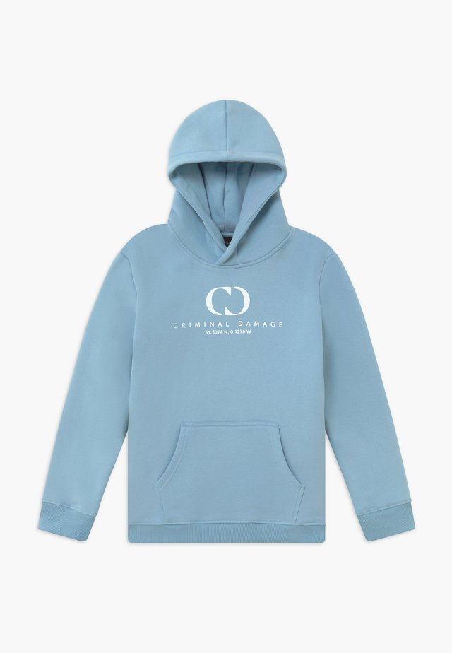 ORDINATE HOOD - Hoodie - blue/reflective white