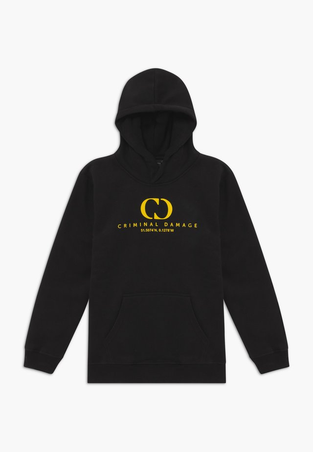 ORDINATE HOOD - Kapuzenpullover - black/reflective yellow