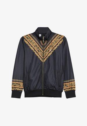 TRACK - veste en sweat zippée - black/multi