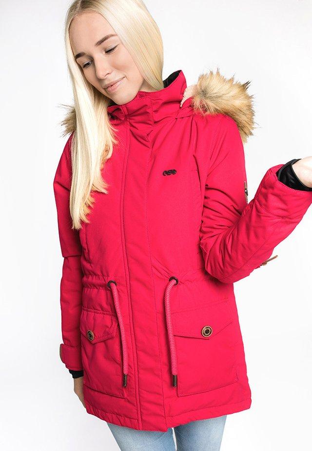 FLORA - Winter coat - fuchsia