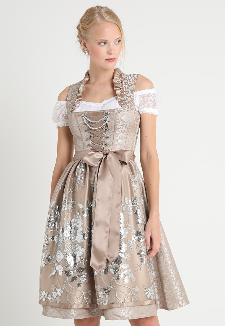 Country Line - Dirndl - taupe silber