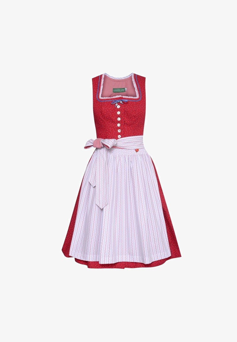 Country Line - EDWINA - Dirndl - red