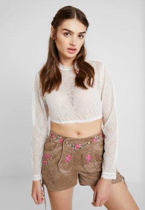 Langarmshirt - creme rose