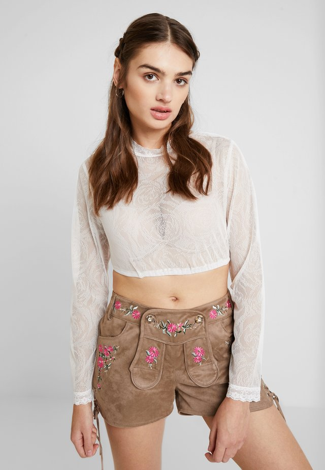 Long sleeved top - creme rose