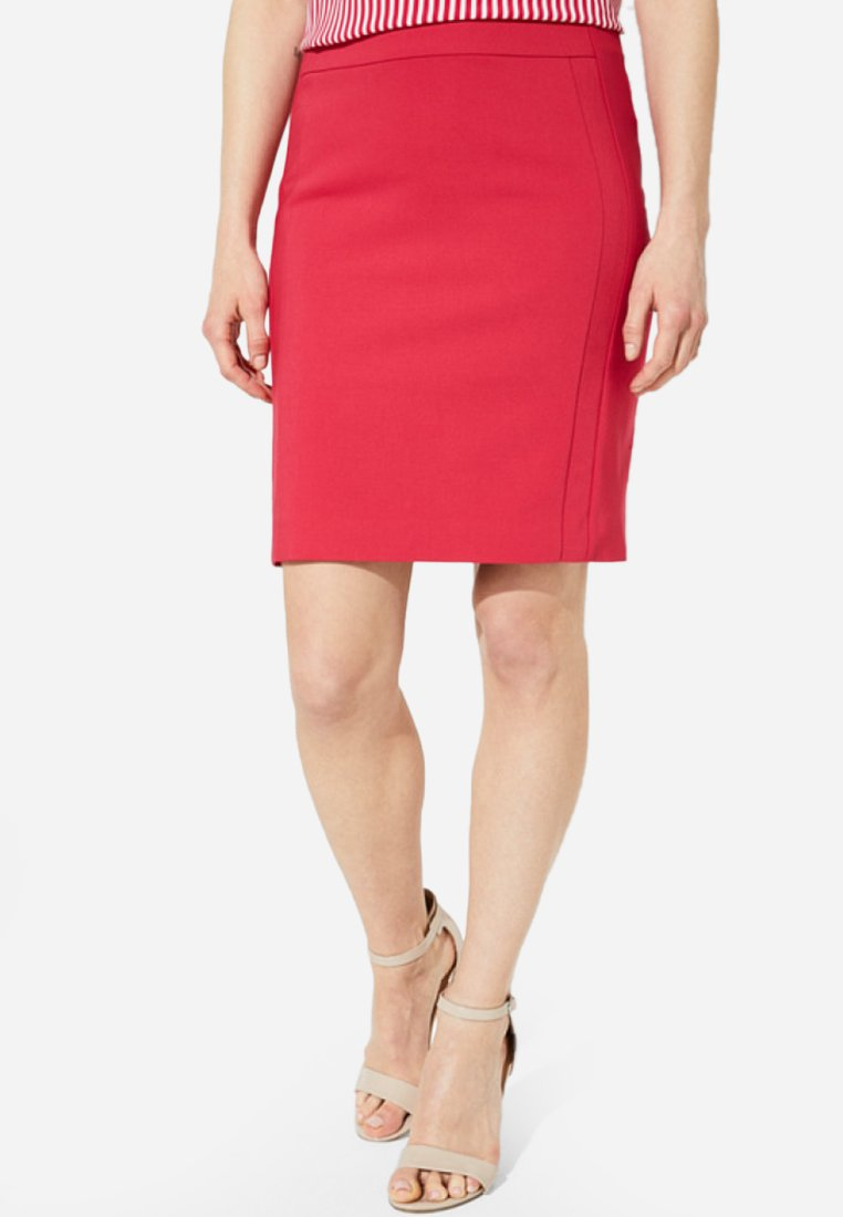 comma - MIT RAFFINIERTEN DETAILARBEITEN - Pencil skirt - pink