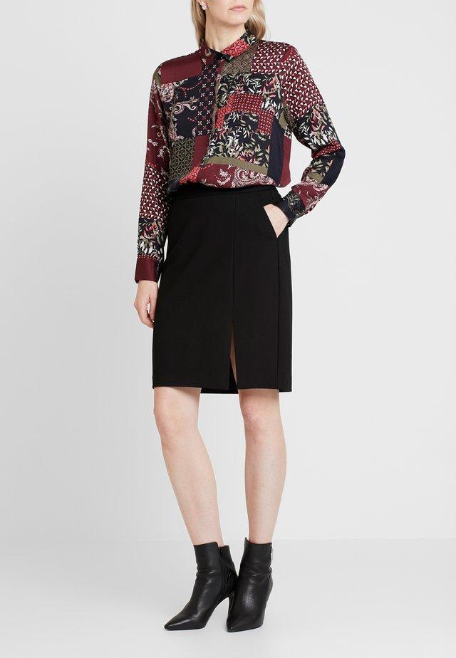 KURZ - Falda de tubo - black