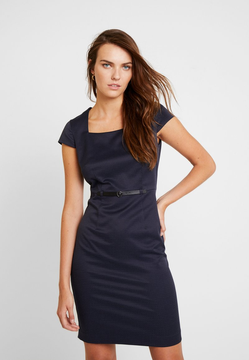 comma - KURZ - Shift dress - dark blue