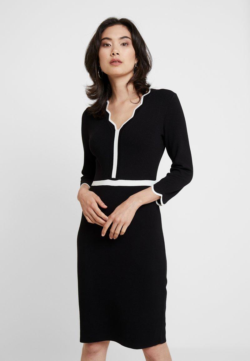 comma - DRESS - Jumper dress - black