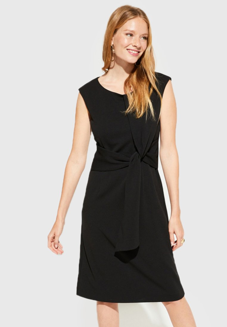 comma - DRESS SHORT - Shift dress - black