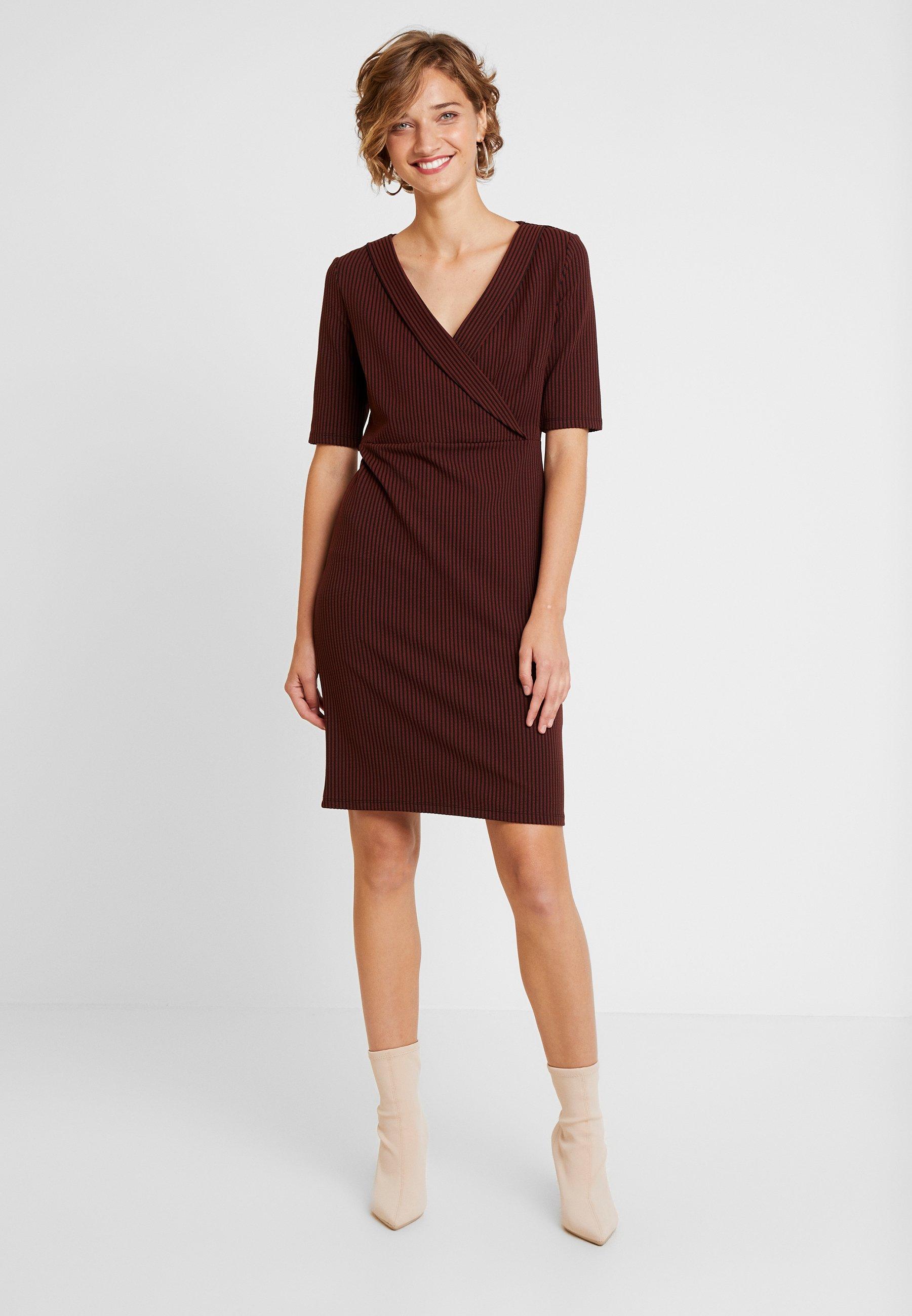 comma DRESS - Robe en jersey brown