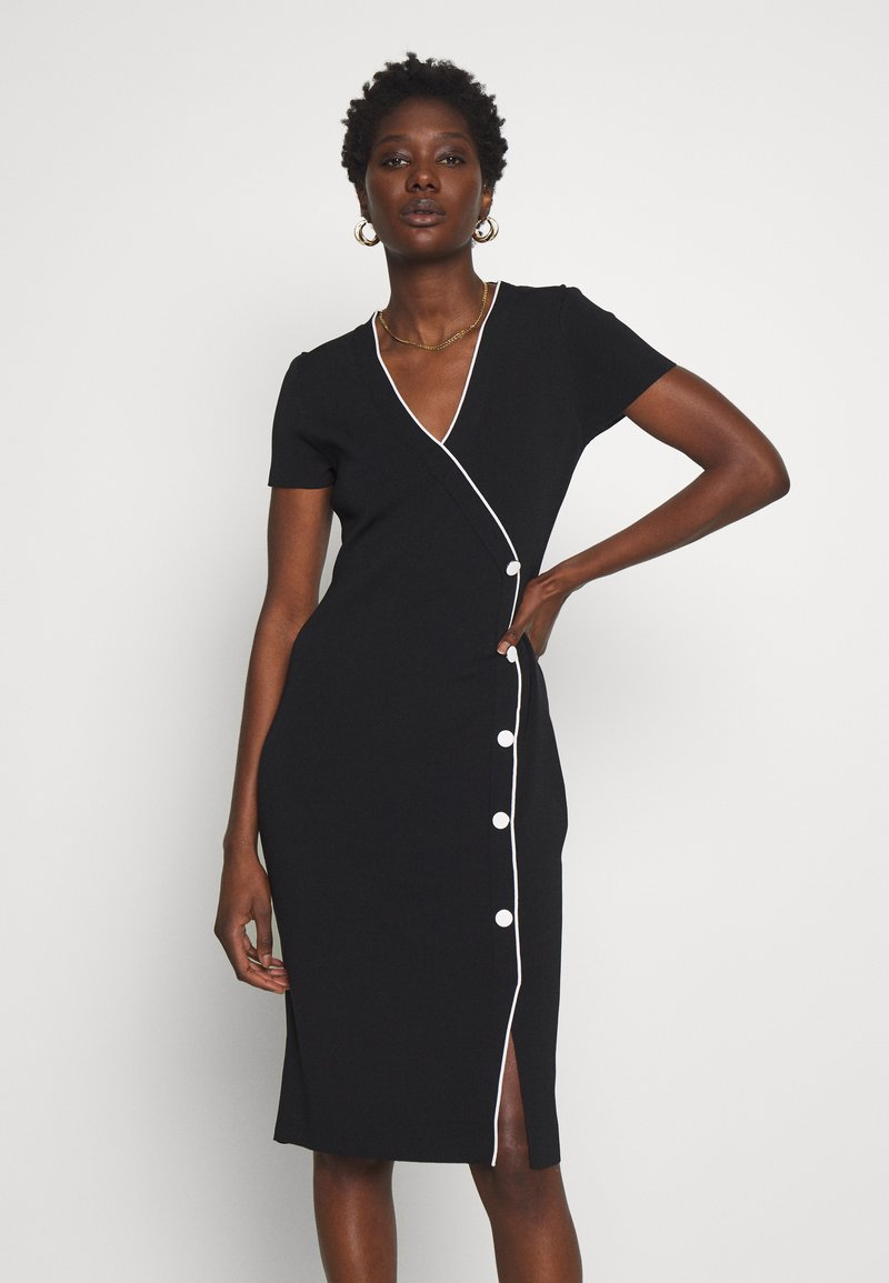 comma - DRESS - Shift dress - black