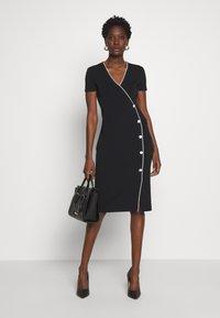 comma - DRESS - Shift dress - black - 1