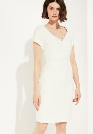 FEMININES KLEID MIT SPITZE - Shift dress - white