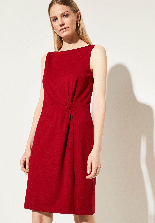 Jerseykleid - deep red
