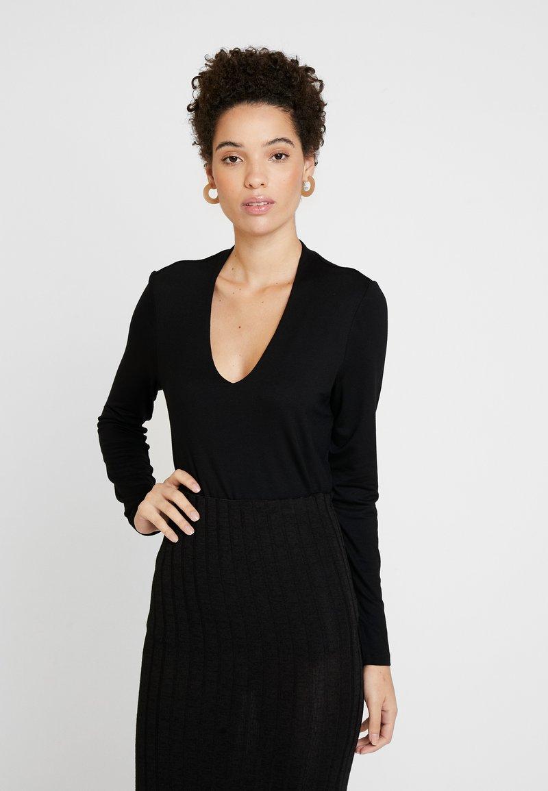 comma - LONGSLEEVE - Long sleeved top - black