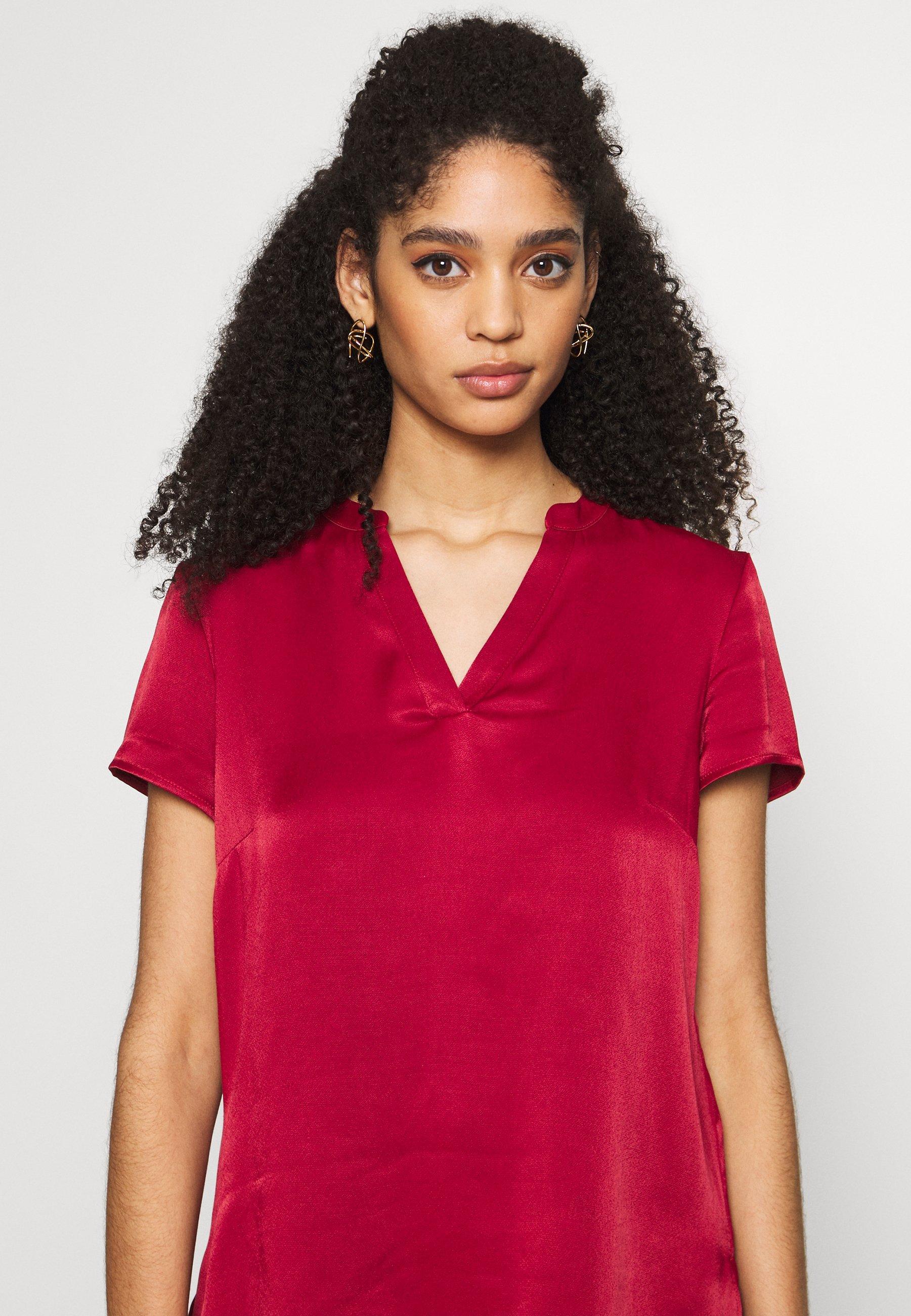 comma BLOUSE SHORTSLEEVE - Bluser - scarlet red