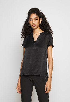 BLOUSE SHORTSLEEVE - Blouse - black