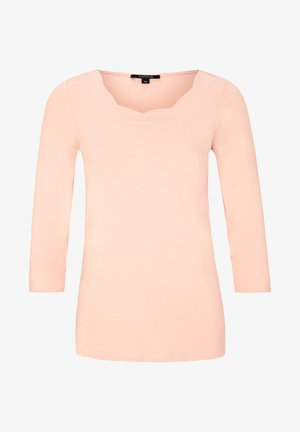 MIT BOGENKANTEN-AUSSCHNITT - Long sleeved top - powder rose