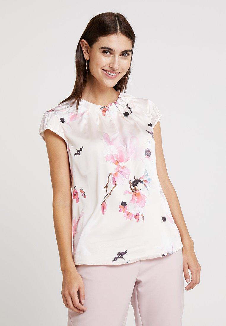 comma - Blouse - rose/multi-coloured