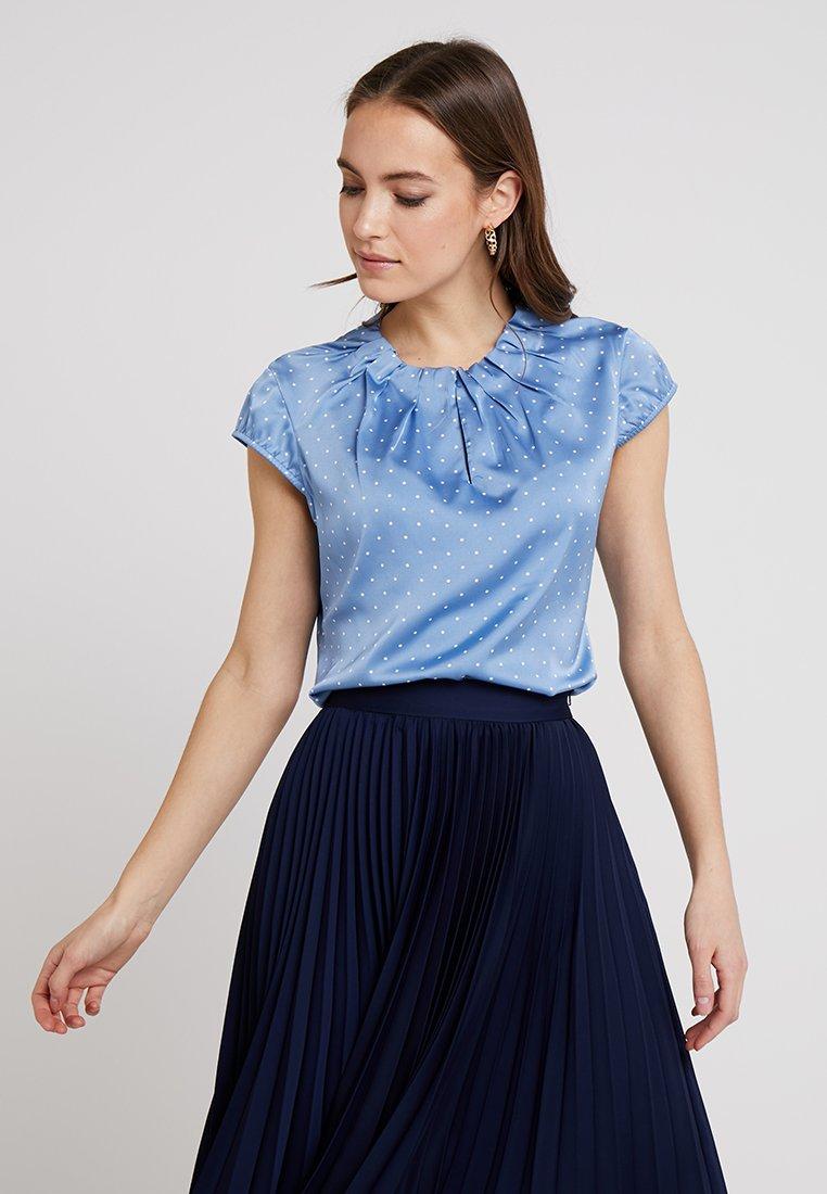 comma - Bluse - light blue/white