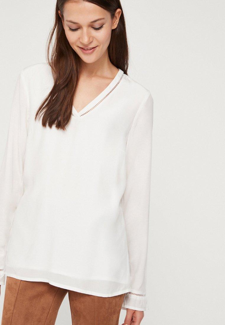 comma - LANGARM - Bluse - white
