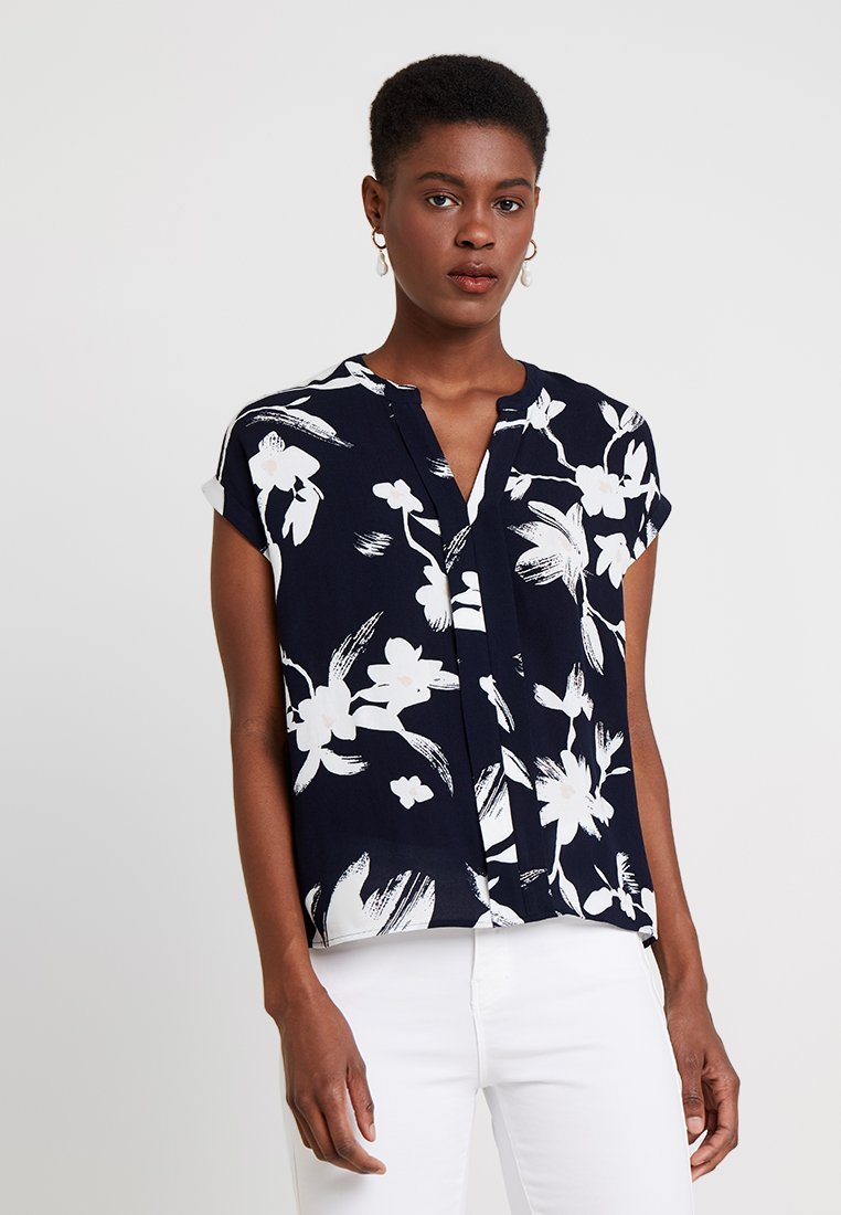 Dark Blue Blouse Blue Dark Blouse Comma Comma Dark Comma Blouse Blue Comma Blouse QrhdsCxtB