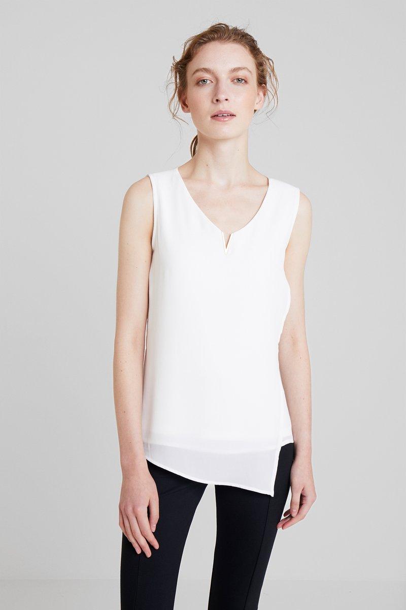 comma - ÄRMELLOS - Blouse - white