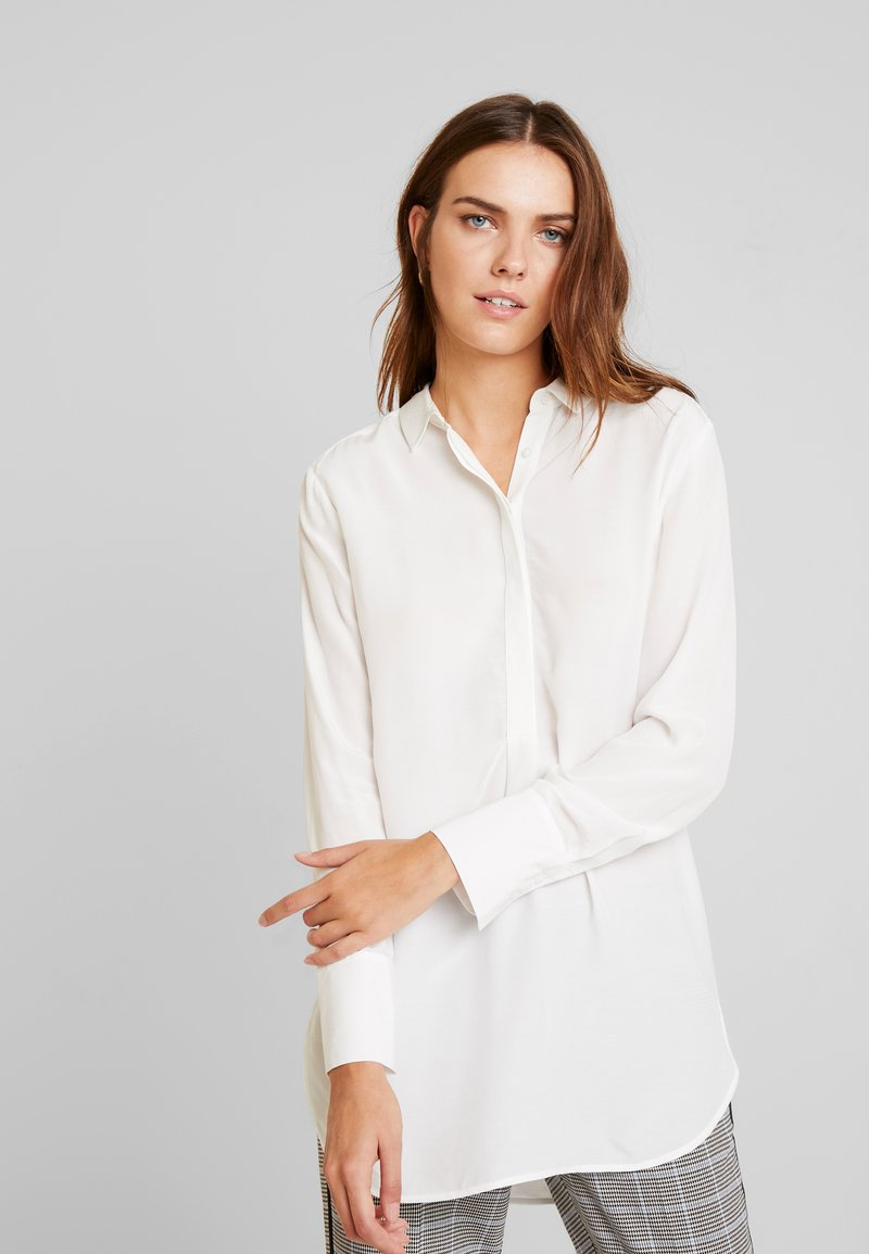comma - BLOUSE LONGSLEEVE - Chemisier - off-white