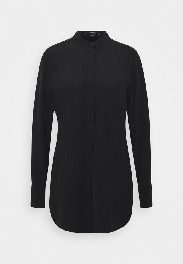 LANGARM - Button-down blouse - black
