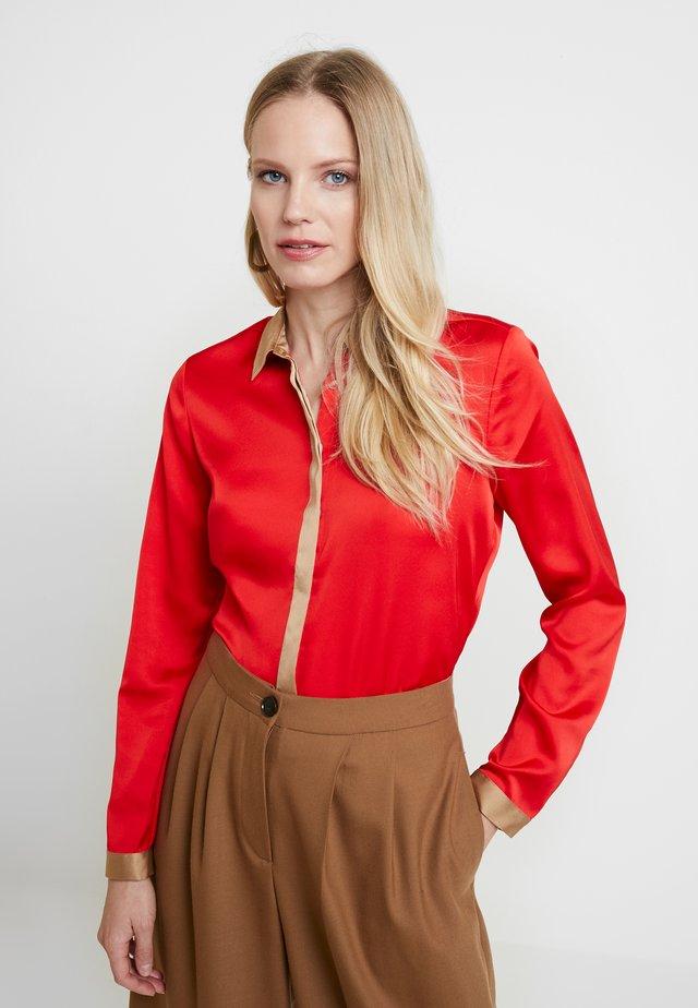 BLOUSE LONGSLEEVE - Skjortebluser - red