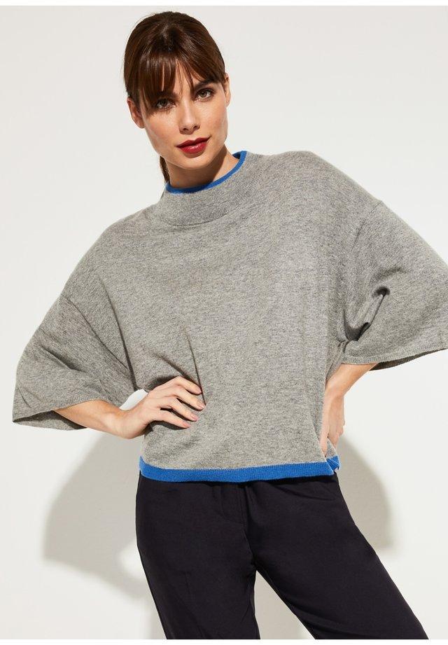 MIT KONTRAST-DETAILS - Pullover - grey melange