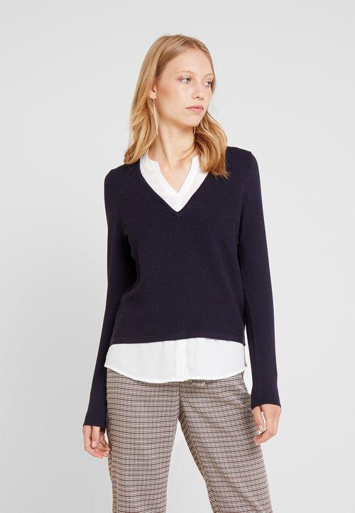 ZMNIEJSZONE O 50% comma LONGSLEEVE - Sweter - tinte Odzież Damska KIQI-RJ1