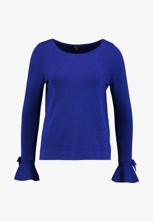 Strikkegenser - blau