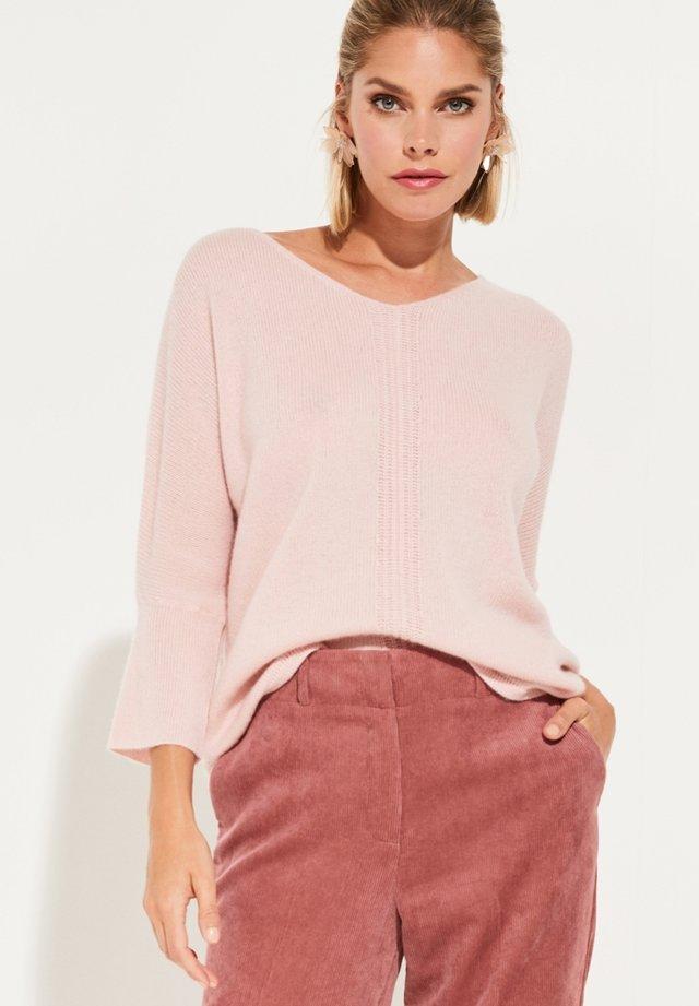 MIT 3/4-ÄRMELN - Pullover - light pink