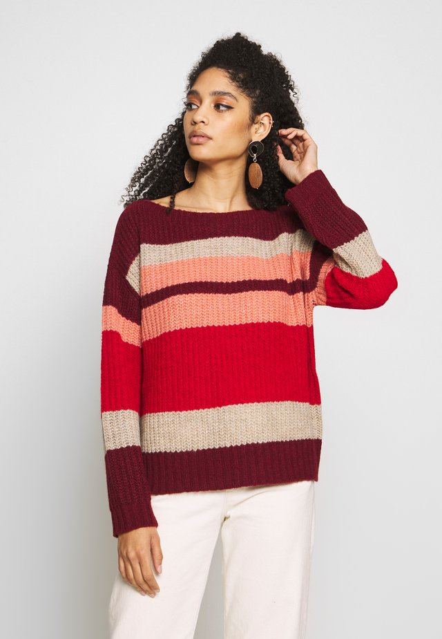 Sweter - multicolor stripes