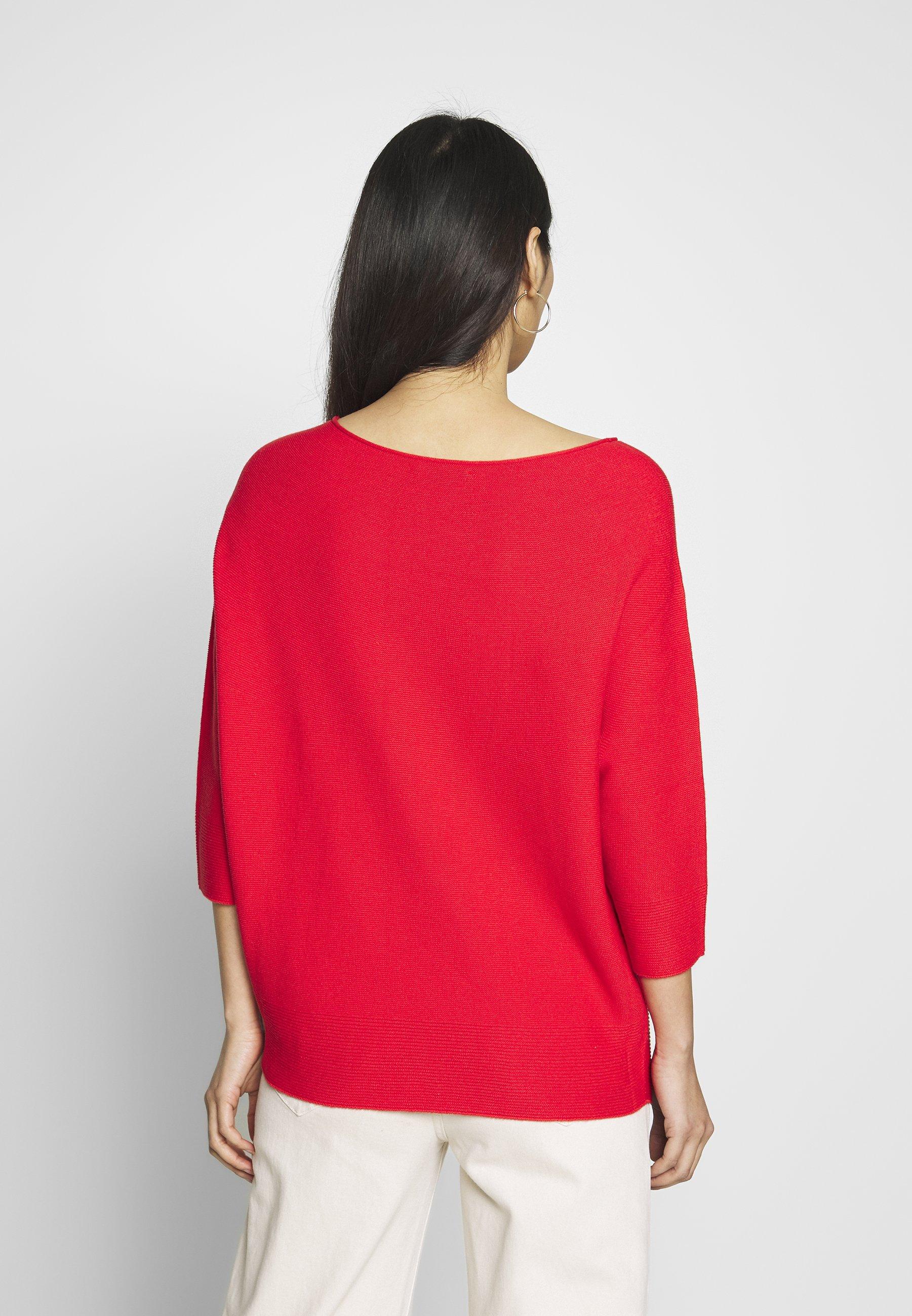 comma Strikkegenser - milky red