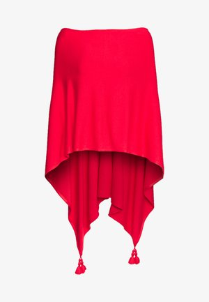 PONCHO - Cape - milky red