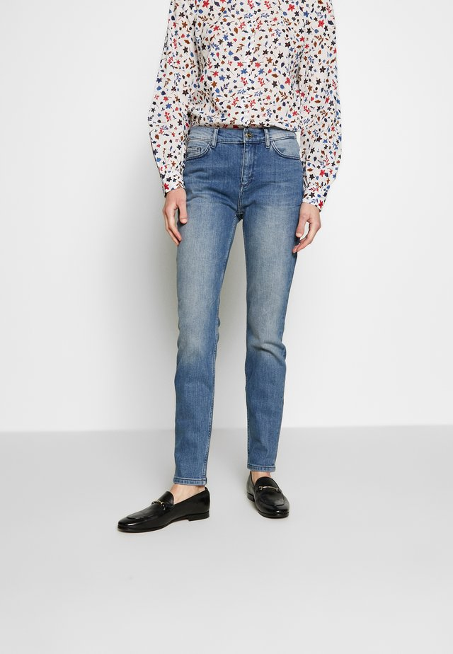 TROUSERS - Vaqueros pitillo - blue denim stretch