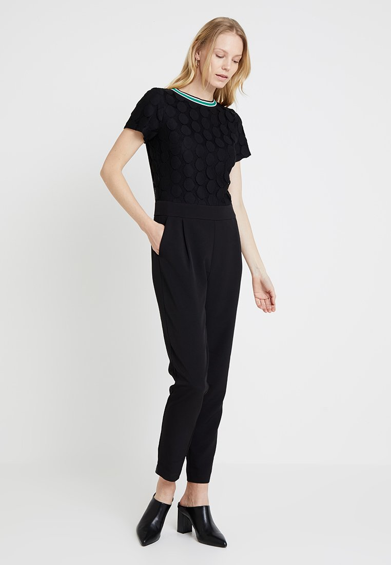 comma - OVERALL - Jumpsuit - black